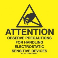 """""""ATTENTION Static Sensitive Devices"""" Label"""