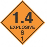"""EXPLOSIVE 1.4 S"" - D.O.T. Label"
