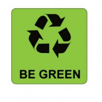 """""""Be Green with Recycle Logo"""" Label"""