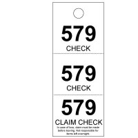 Coat Check Tags