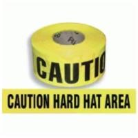 Caution Hard Hat Area Barricade Tape
