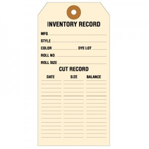 Inventory Record Carpet Tags