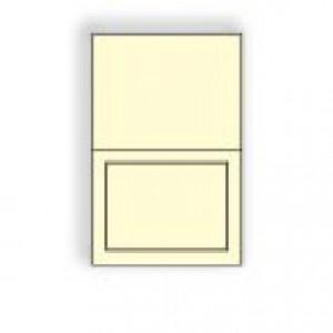 Creme Prism Announcement Longfold Panel Card