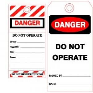 Danger & Warning Tags