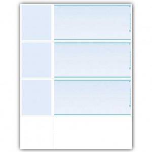 LW837, Laser Wallet Size Check - Blank