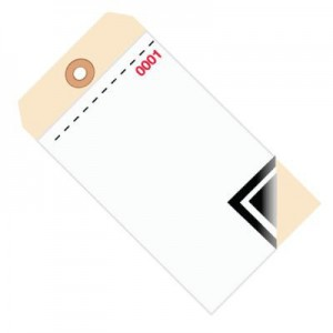 3 Part Carbon Style Inventory Tags - Blank -Plain