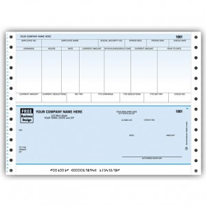CB334C, Classic Continuous Payroll Check