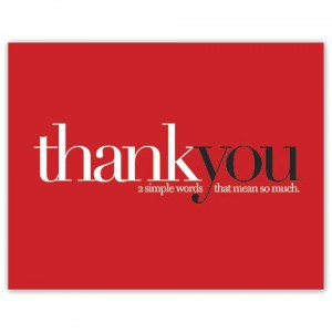Big & Bold Thank You Cards