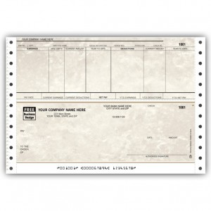 CB351, Marble Continuous Payroll Check