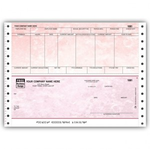 CB334, Marble Continuous Payroll Check