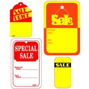 Retail Sale Tags - Small