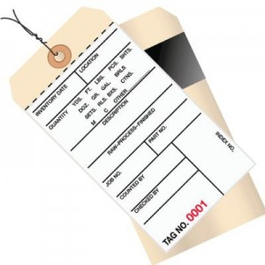 2 Part Inventory Tag with Transfer Tape-Pre-Wired