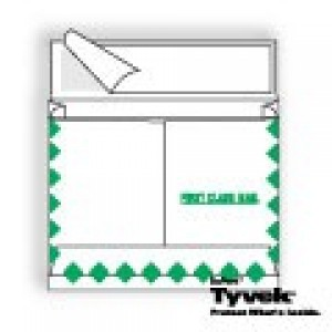 Tyvek Expansion Open Side Center Seam with First Class Border and Kwik-Tak