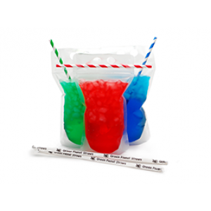 Clear Plastic Drink Pouch To-Go