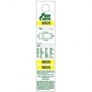 Parking & Claim Check Tags, White, 2 1/2\