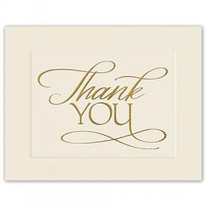 Golden Gratitude Thank You Cards