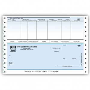 CB351C, Classic Continuous Payroll Check
