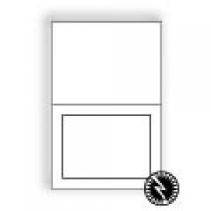 Ultra-White Announcement Longfold Panel Card