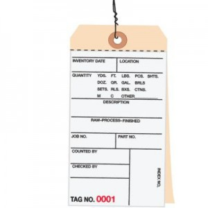 2 Part Carbonless Inventory Tags - Pre-Wired