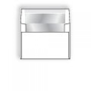 Ultra-White Silver Foil-Lined Announcement Envelope