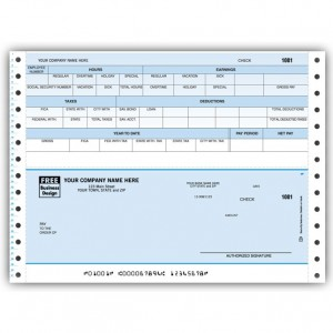 CB303C, Classic Continuous Payroll Check