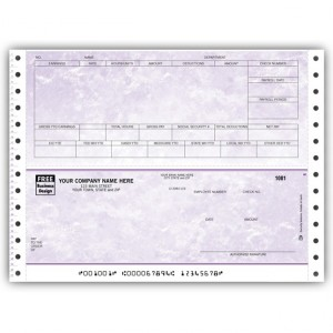 CB346, Marble Continuous Payroll Check