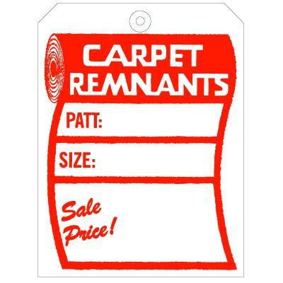 Carpet Remnant Tag