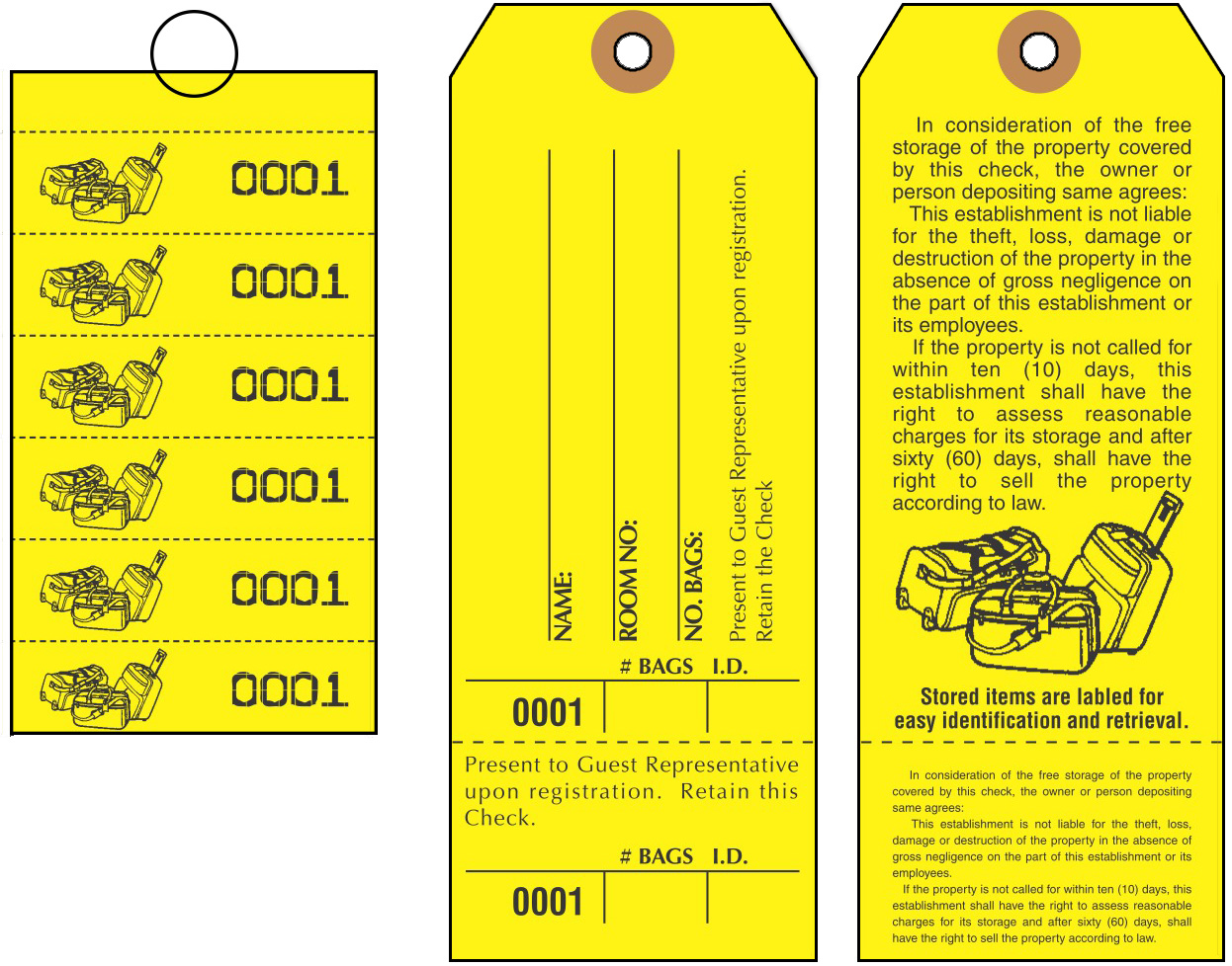 Ams Printing Bag Identification Tags Manifold Construction